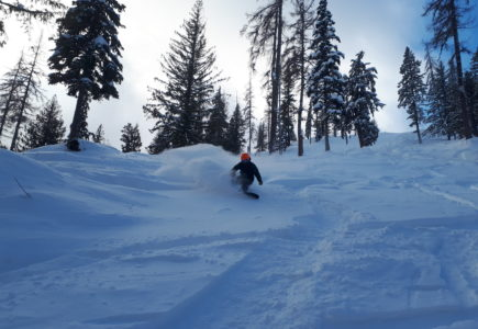 Skiing Fresh Powder on Silver Star
