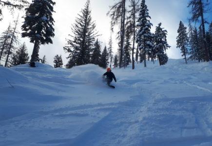 Skiing Fresh Powder on Silver Star